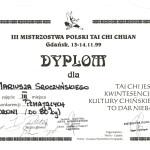 Dyplom zzawodów TaiChiChuan
